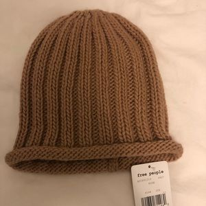NWT Free People Rose tan knit beanie